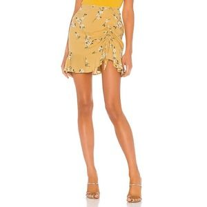 MINKPINK Maggie Ruched Floral Mini Skirt S